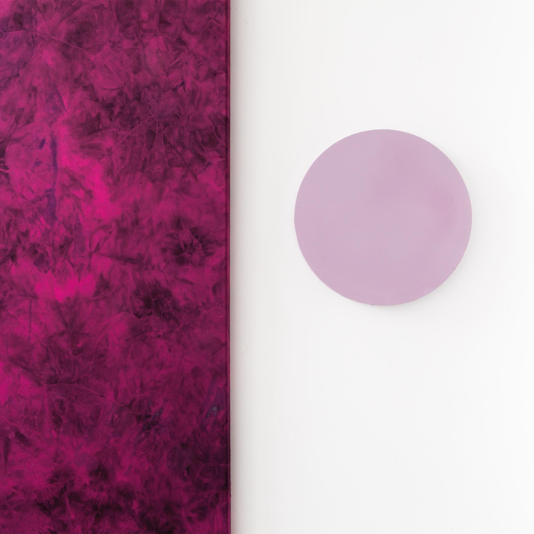 Schilderij Patty Pink & cirkel