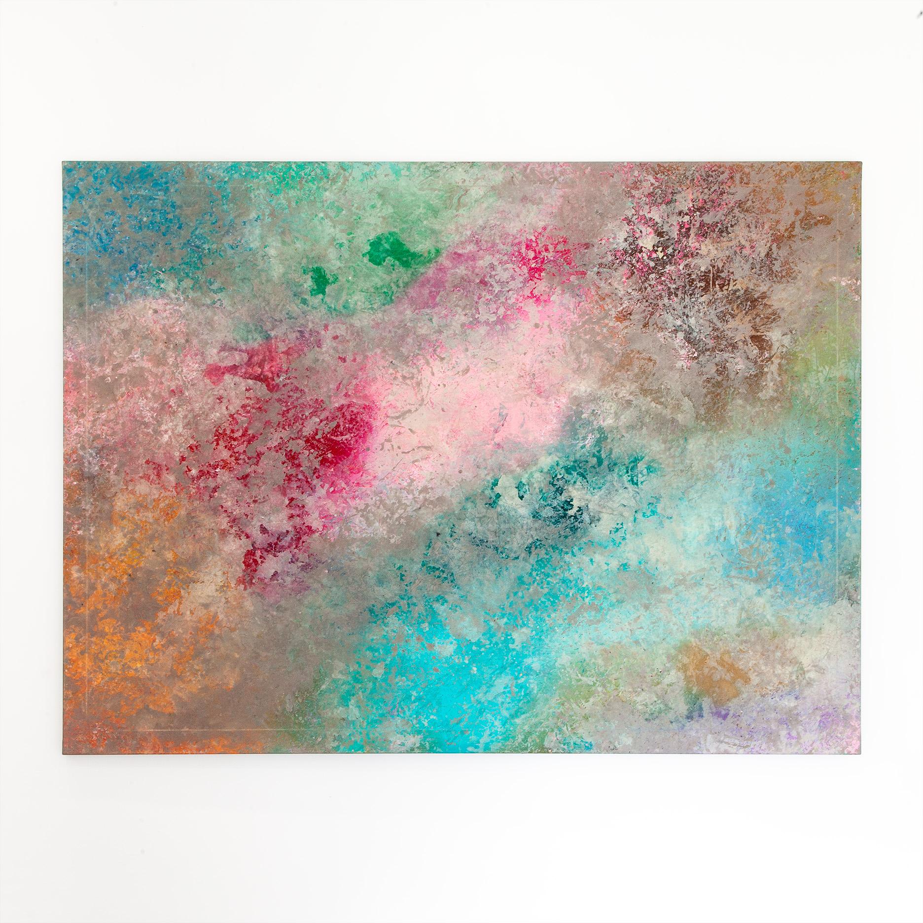Schilderij Pink Rainbow Hills